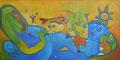 Fun in the sun, 120 x 80 cm, Acryl