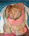 Beach Lovers, 80 x 100 cm, Acryl