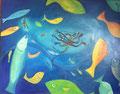 Deep Dive, 100 x 80 cm, Acryl