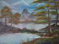 Landschap - olieverf op canvas - 50x40cm - jan.2016 - te koop 75 euro