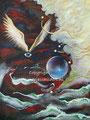 Dromen - acrylverf op canvas - 30x24cm - okt.2016 - te koop