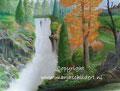 Waterval - olieverf op canvas - 60,5x45cm - juli 2016 - te koop 150 euro