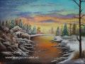 Sneeuw - olieverf op canvas - 60,5x45cm - juli 2016 - te koop