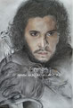 Jon Snow - pastelpotlood op papier - 32x24cm - april 2017 - te koop