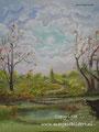 Fantasy - acrylverf op canvas - 30x24cm - april 2016 - te koop