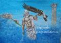 Zeus - acrylverf op canvas - 60,5x45cm - juni 2016 - origineel niet te koop - repro