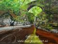Schotland rivier - olieverf op canvas - 60,5x45cm - december 2017 - te koop