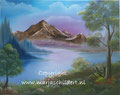 Berg - olieverf op canvas - 50x40cm - mei 2016 - te koop 75 euro