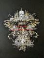 Reign of Caesar -  acrylverf op canvas - 65x50cm - naar sculptuur Kris Kuksi - aug.2017 - te koop
