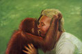 "Orangutan Encounter, Size: 36"" x 24"" (91cm x 61cm)"