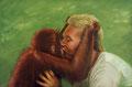 "Orangutan Encounter, Size: 36"" x 24"" (91cm x 61cm)"