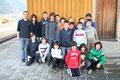 Ein Teil der 20 Jugendlichen zusammen mit den Betreuern