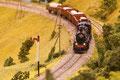 Zug unterwegs auf der Vinschgerbahn