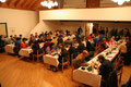 Das Samstag-Abend Dinner für Aussteller und Helfer