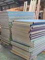 この畳は中古品。床ではなく、壁の断熱を兼ねた仕上げ材として使用。