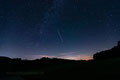 Sternenhimmel am Lausheimer Weiher mit Milchstraße