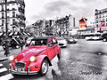 Red 2CV at Moulin rouge - Paris