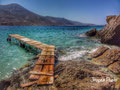 The wooden pontoon - Aegiali Bay - Amorgos island - Greece