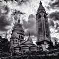 Dramatic sky at Sacré-Coeur - Montmartre - Paris