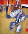 Golden Queen, Acryl auf Leinen, 2001