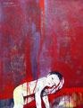 Sein Leben in deiner Hand (übermalt) ,Acryl auf Leinen,  2004