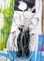 Weißer Mohn, Farbstift auf Papier, 1997
