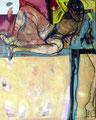 Kuss der Nymphe, Acryl auf Leinen, 2001