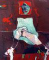 The woman inside, Acryl auf Leinen, 2004
