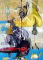 Riding the Balloon, Acryl auf Leinen, 2003