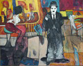 Charly Chaplin, Acryl auf Leinen, 2001