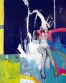 Pouring down, Acryl auf Leinen, 2003