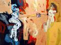 In Between, Acryl auf Leinen, 2003