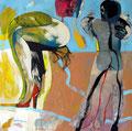 Dancing the blues, Acryl auf Leinen, 2003