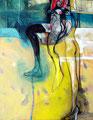 Liebe lässt schweben, Acryl auf Leinen, 2001