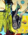 Playboys, Acryl auf Leinen, 2001
