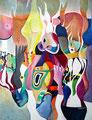 Flammen, Acryl auf Leinen, 1991