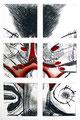 Stangenreiter 1998 - Farbradierung auf 6 Platten, Keine Auflage; Druck: Radierwerkstätte Mühlbacher, Wien