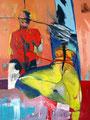 Bondage, Acryl auf Leinen, 2003