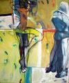 Die Tänzerin, Acryl auf Leinen, 2001