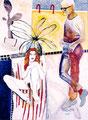 ..und?, Acryl auf Leinen, 1995