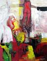Leaving on a Plate, Acryl auf Leinen, 2003