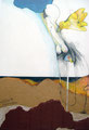 Bodenkontakt, Farbstift, Collage auf Papier