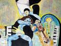 Das Wachsorchester, Acryl auf Leinen, 1991