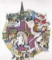 Rund um Wien, Farbradierung 1992, Auflage: 150 Expl.+ 15 E.A.
