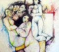 Das Attentat, Acryl auf Leinen, 1992