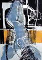 Gefallener Engel 1997 - Farbholzschnitt 1997, Auflage: 10 Expl., Eigenedition