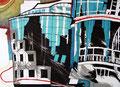 Haas Haus Wien 1995 - Farbradierung, 4 Platten, kleine Auflage; Druck: Atelier Erbler