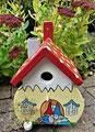 Houten Nestkastje Kabouterhuisje, Details, Vogelhuisje bouwen, voorkant, eindresultaat_1