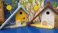 houten nestkastje beschilderd hond portretten vogelhuisje cadeau persoonlijk