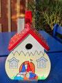 Houten Nestkastje Kabouterhuisje, Details, Vogelhuisje bouwen, voorkant, eindresultaat_5